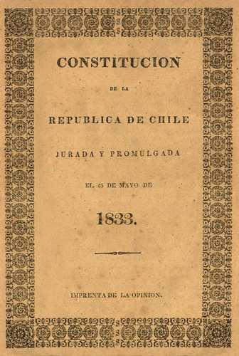 Resultado de imagen para constitución política de la república de chile de 1833
