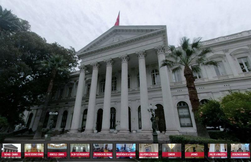 BCN lanza tour virtual por la antigua sede del Congreso en Santiago