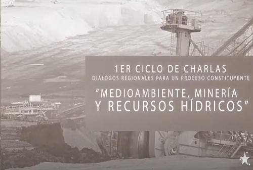 """Charla """"Medio ambiente, minería y recursos hídricos"""""""