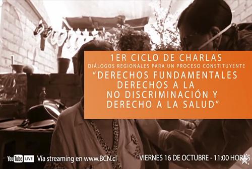 """Charla """"Derechos fundamentales: Derechos a la no discriminación y derecho a la salud"""""""