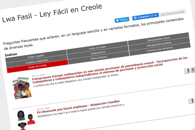 BCN publica nuevas guías de Ley Fácil en creole