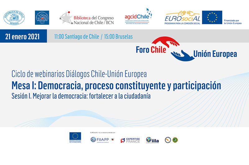 Primera sesión de los Diálogos Chile-Unión Europea abordó mecanismos de participación directa y perspectiva de género