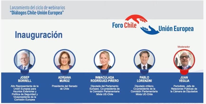 Lanzamiento de la serie de webinarios. Diálogos Chile-Unión Europea.