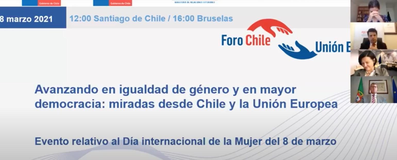 Avanzando en igualdad de género y en mayor democracia: miradas desde Chile y la Unión Europea