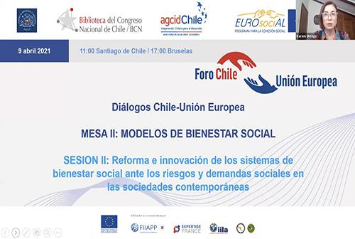 Diálogos Chile-UE. Mesa II: Modelos de bienestar social. SESIÓN II: Reforma e innovación de los sistemas de bienestar social ante los riesgos y demandas sociales en las sociedades contemporáneas.