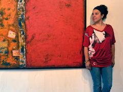 "Pintora chilena Marjolaine Del Pino: ""Cada esquina de India me inspira"""