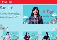 Programa permitirá aprender 88 frases de chino mandarín en videos de un minuto