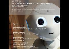 Mesa público-privada discutirá sobre robótica al servicio de la pandemia y sus desafíos éticos