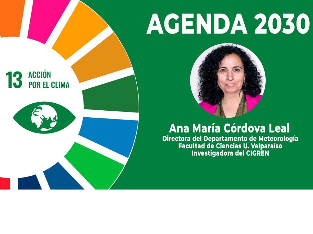 """Ana María Córdova: """"Chile necesita formación de profesionales del área de climatología para enfrentar de mejor manera el futuro"""""""